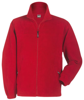 Werbeartikel Fleece Jacken James Nicholson - red