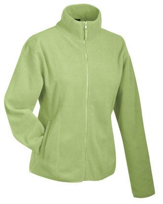 Werbeartikel Fleecejacken Damen - lime green