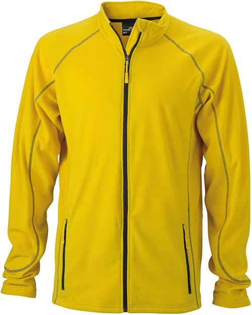 Werbeartikel Fleece Jacke Structure - yellow/carbon