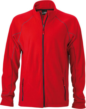 Werbeartikel Fleece Jacke Structure - red/carbon