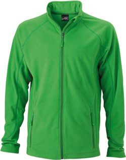 Werbeartikel Fleece Jacke Structure - green/dark green