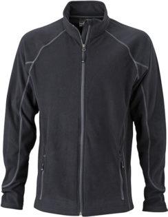 Werbeartikel Fleece Jacke Structure - black/carbon