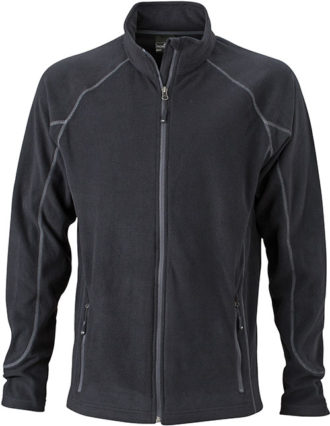 Werbeartikel Fleece Jacke Structure - black/carbon