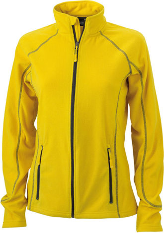 SlazengDamen Fleece Jacke Structureer Damen Fleece Jacke - yellow/carbon
