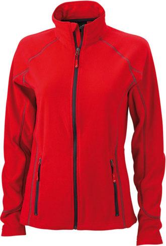 SlazengDamen Fleece Jacke Structureer Damen Fleece Jacke - red/carbon
