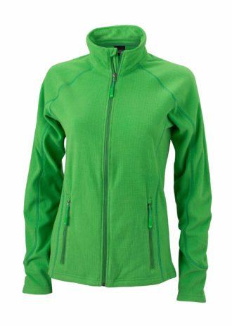 SlazengDamen Fleece Jacke Structureer Damen Fleece Jacke - green/dark green
