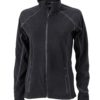 SlazengDamen Fleece Jacke Structureer Damen Fleece Jacke - black/carbon