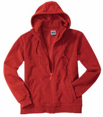 Mikro Fleece Zip Hooded Jacket - red