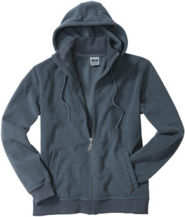 Mikro Fleece Zip Hooded Jacket - carbon