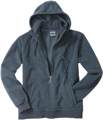 Mikro Fleece Zip Hooded Jacket - carbon