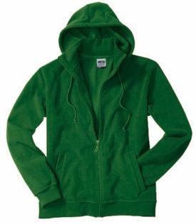 Mikro Fleece Zip Hooded Jacket - dark green