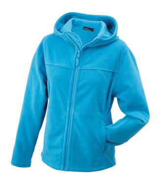 Mikro Fleece Zip Damen Jacke - turquoise