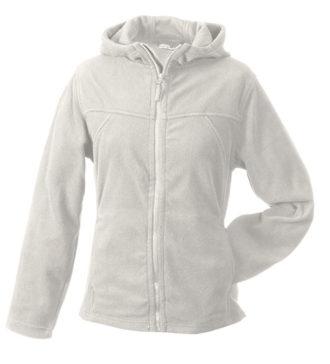 Mikro Fleece Zip Damen Jacke - offwhite