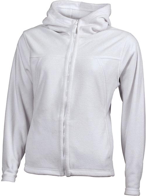 Mikro Fleece Zip Damen Jacke - white