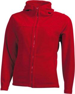 Mikro Fleece Zip Damen Jacke - red