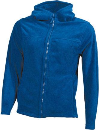 Mikro Fleece Zip Damen Jacke - royal