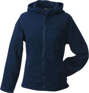 Mikro Fleece Zip Damen Jacke - navy