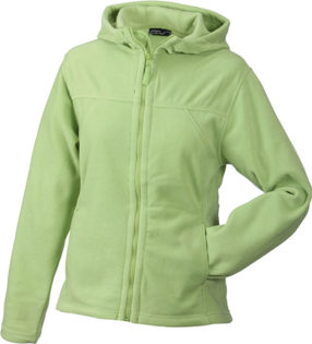Mikro Fleece Zip Damen Jacke - lime green