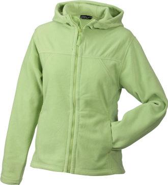 Mikro Fleece Zip Damen Jacke - lime green
