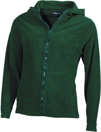 Mikro Fleece Zip Damen Jacke - dark green