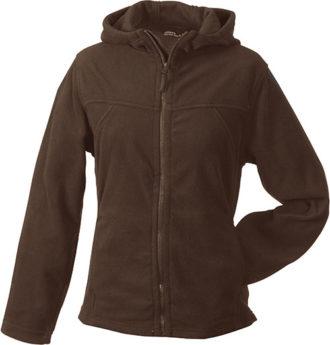 Mikro Fleece Zip Damen Jacke - brown