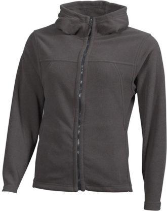 Mikro Fleece Zip Damen Jacke - dark grey