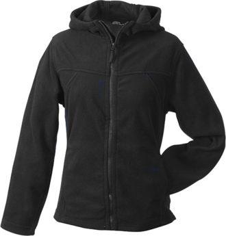 Mikro Fleece Zip Damen Jacke - black