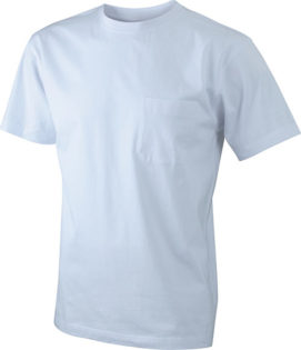 Mens Round-T Pocket T-Shirt - white