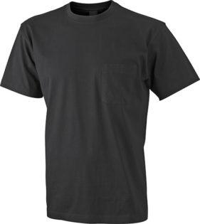 Mens Round-T Pocket T-Shirt - black
