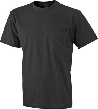Mens Round-T Pocket T-Shirt - black