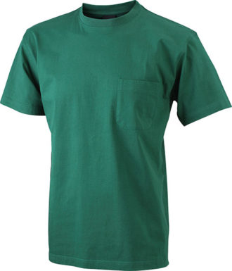 Mens Round-T Pocket T-Shirt - dark green