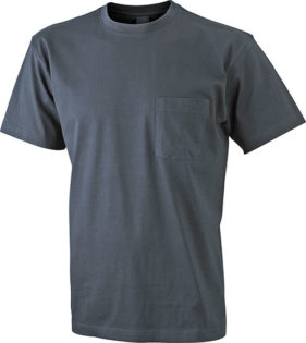 Mens Round-T Pocket T-Shirt - graphite