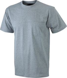 Mens Round-T Pocket T-Shirt - grey heather