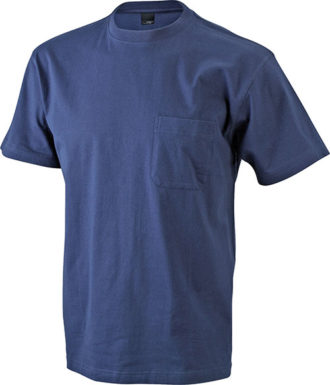 Mens Round-T Pocket T-Shirt - navy