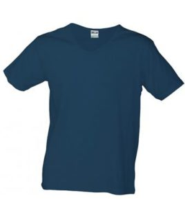 T-Shirt Slim Fit Men mit V-Ausschnitt - navy