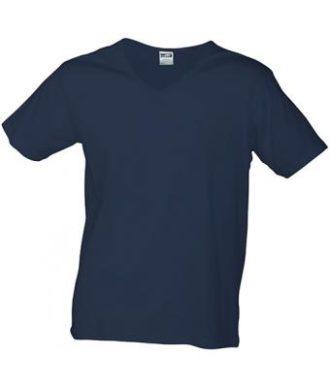 T-Shirt Slim Fit Men mit V-Ausschnitt - petrol