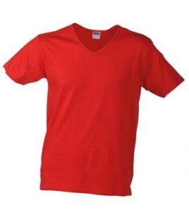 T-Shirt Slim Fit Men mit V-Ausschnitt - red