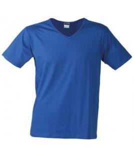 T-Shirt Slim Fit Men mit V-Ausschnitt - royal