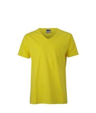 T-Shirt Slim Fit Men mit V-Ausschnitt - yellow
