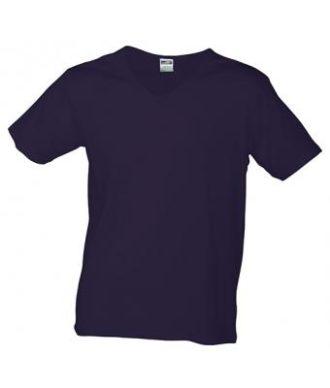 T-Shirt Slim Fit Men mit V-Ausschnitt - aubergine