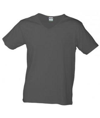 T-Shirt Slim Fit Men mit V-Ausschnitt - graphite