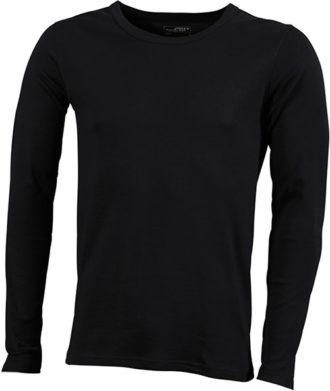 Herrenshirt Long-Sleeved - black