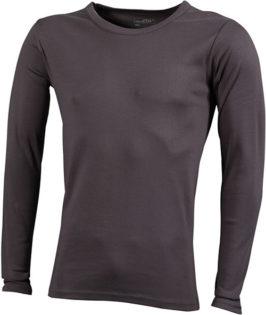 Herrenshirt Long-Sleeved - charcoal