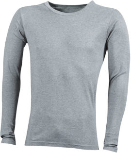 Herrenshirt Long-Sleeved - greyheather