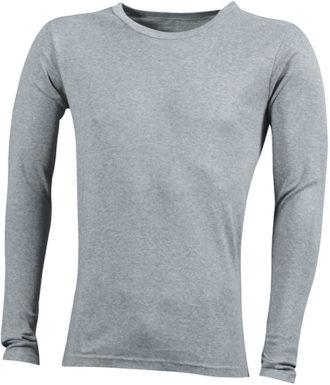 Herrenshirt Long-Sleeved - greyheather