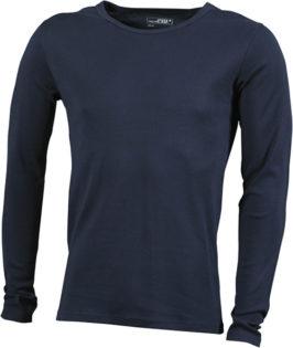 Herrenshirt Long-Sleeved - navy