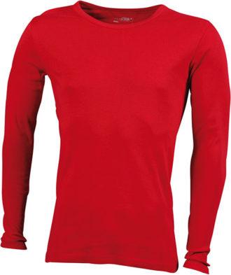 Herrenshirt Long-Sleeved - red