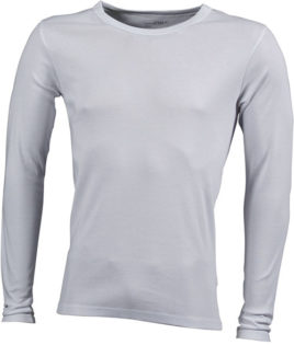 Herrenshirt Long-Sleeved - white