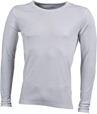 Herrenshirt Long-Sleeved - white