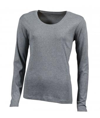 Damen Shirt Long-Sleeved - grey heather